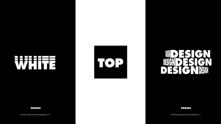 Trap Typography Promo: After Effects Templates