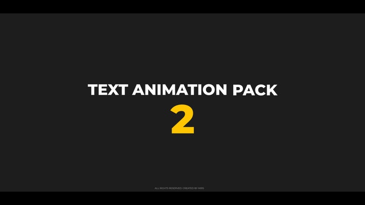 Text Animation Pack 2: Premiere Pro Presets