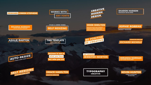 20 Self-Resizing Titles II: Motion Graphics Templates