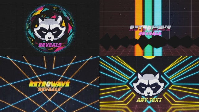 80's Retro Logo Reveal Kit: After Effects Templates