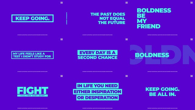 Modern Typography Pack: After Effects Templates