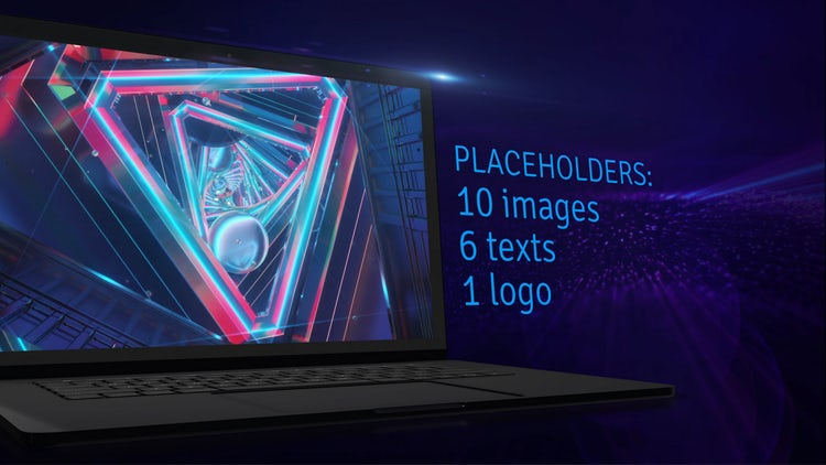 4K Showcase On Laptop Screen: After Effects Templates