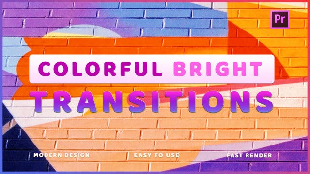 Colorful Bright Transitions: Premiere Pro Presets