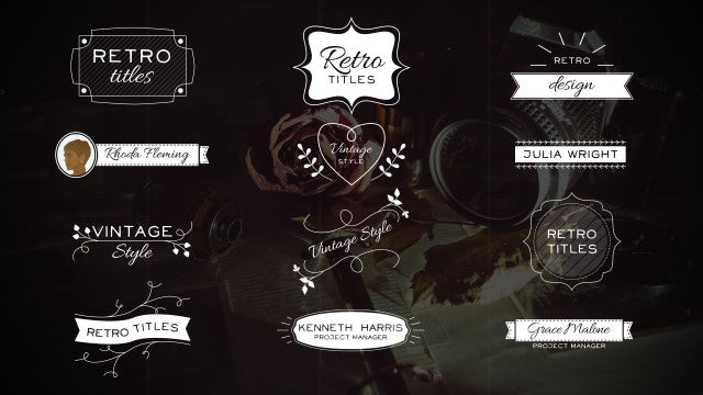Retro Titles And Lower Thirds: After Effects Templates