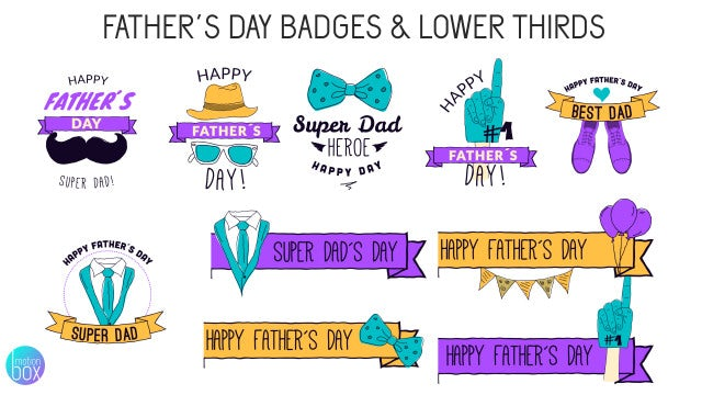Father's Day Badges & Lower Thirds: After Effects Templates