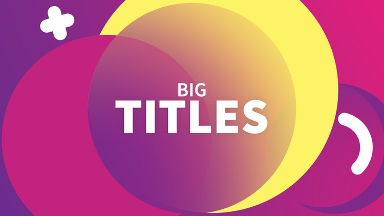 Big Titles: Premiere Pro Templates