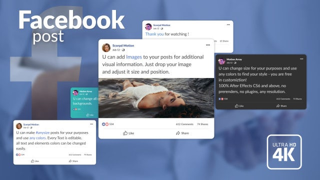 Facebook Post: After Effects Templates