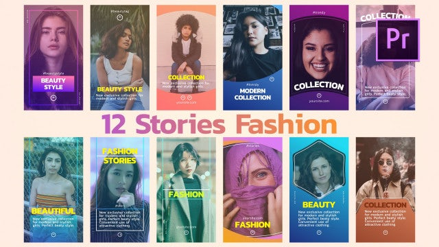12 Stories Fashion: Motion Graphics Templates