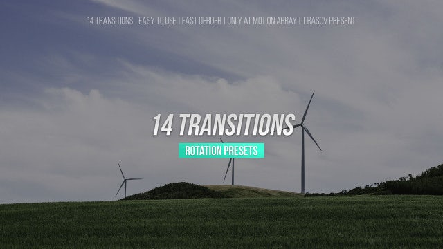 Rotation Transitions: Premiere Pro Presets