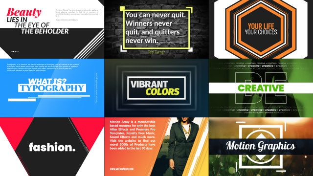 Typography Scenes Package: After Effects Templates