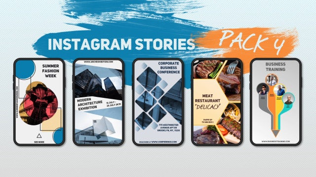 Instagram Stories Pack 4: After Effects Templates