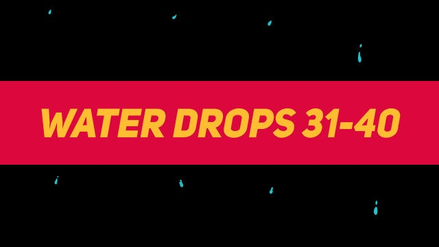 Liquid Elements Water Drops 31-40: Motion Graphics Templates