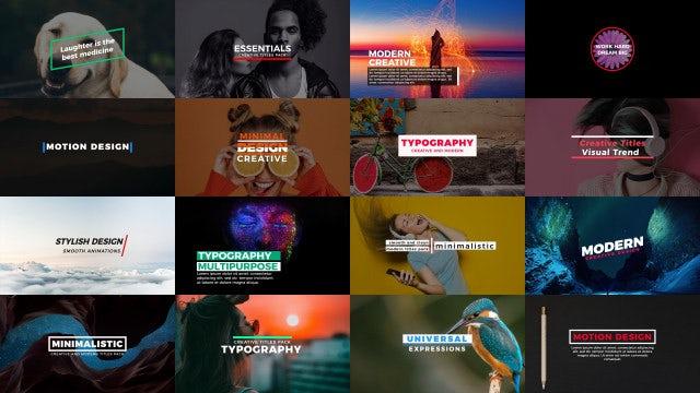 Essentials Titles: Premiere Pro Templates