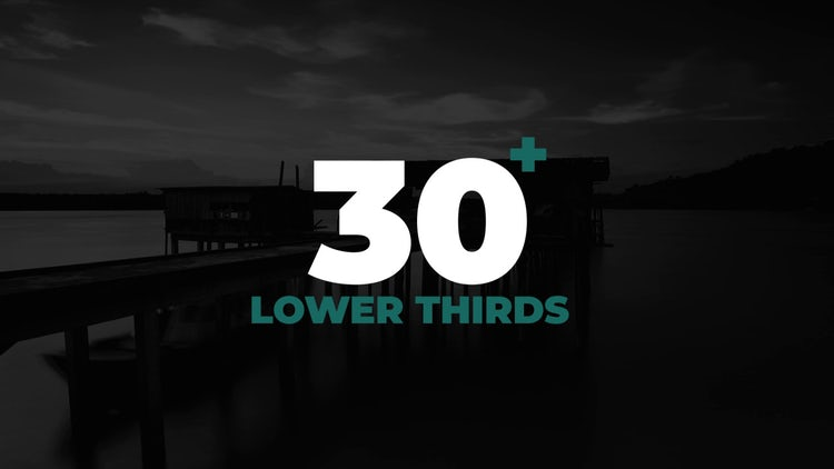 Lower Thirds Pack: After Effects Templates