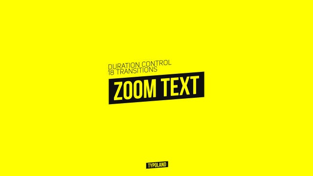 Zoom Text Transitions: Premiere Pro Presets