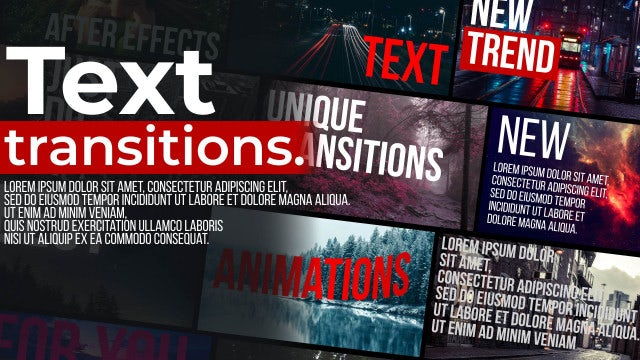 Text Transitions: After Effects Presets