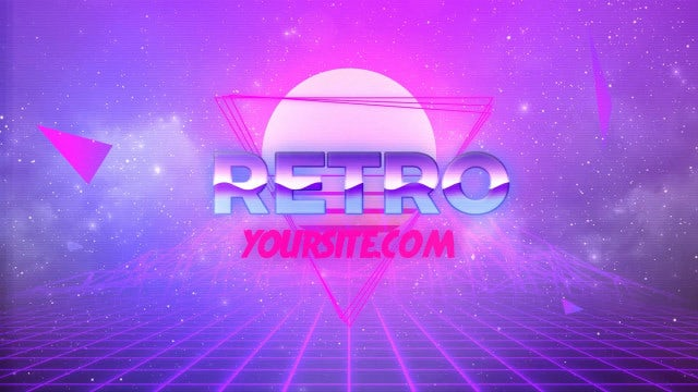 80s Retro Logo: After Effects Templates