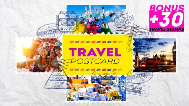 Travel Postcard: After Effects Templates