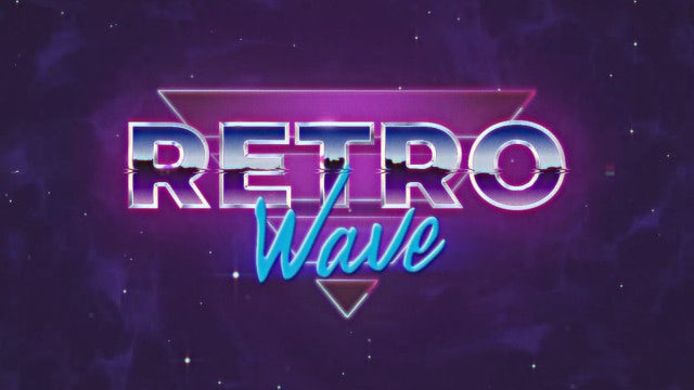 Retro Wave Intro #4: After Effects Templates