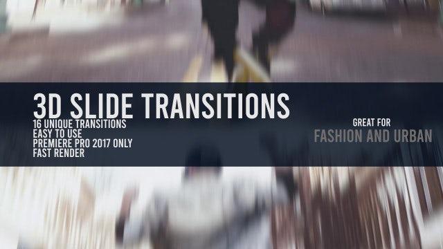 3D Slide Transitions: Premiere Pro Templates