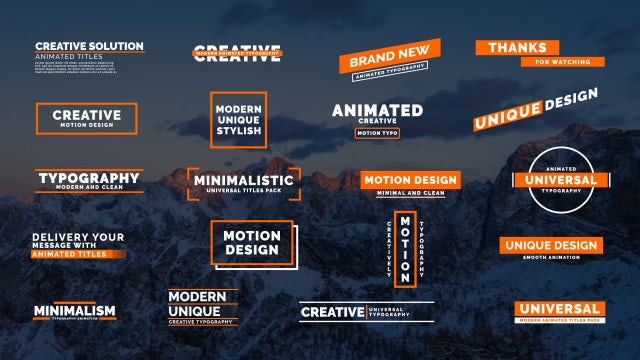 Creative Typo II: After Effects Templates