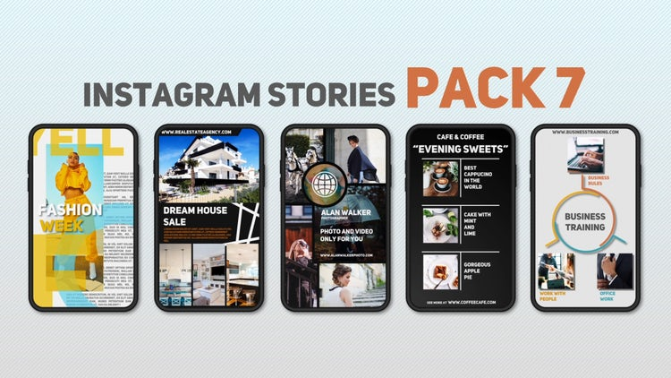 Instagram Stories Pack 7 - After Effects Templates | Motion Array