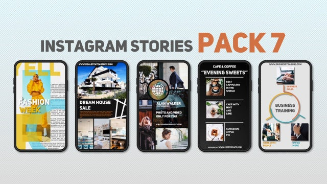 Instagram Stories Pack 7: After Effects Templates