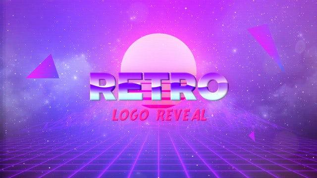 80s Retro Logo: Premiere Pro Templates