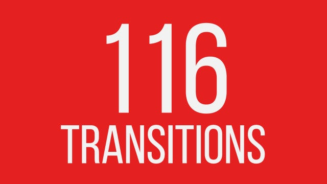 116 Transitions: Premiere Pro Templates