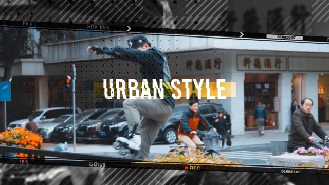 Hip-Hop Urban Opener: After Effects Templates