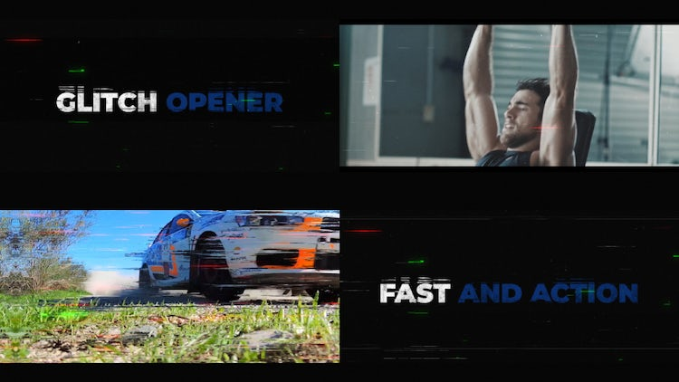Glitch Opener/Promo: After Effects Templates