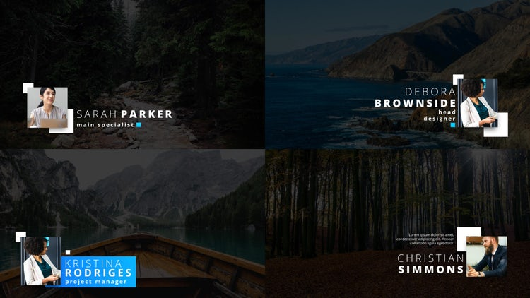 Modern Corporate Lower Thirds 4K: After Effects Templates