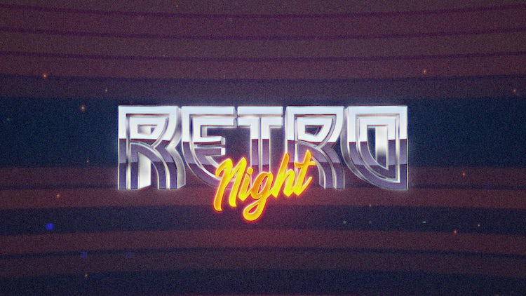 Retro Wave Intro #5: After Effects Templates