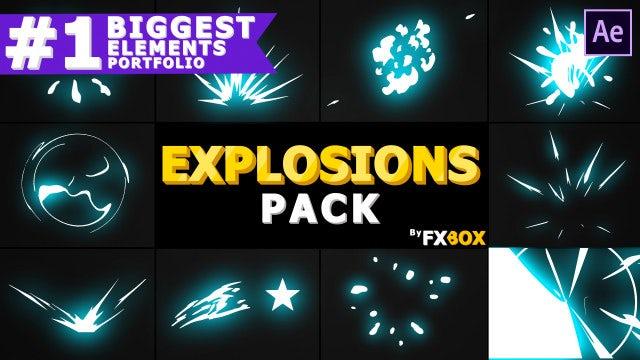Cartoon Explosion Elements: After Effects Templates