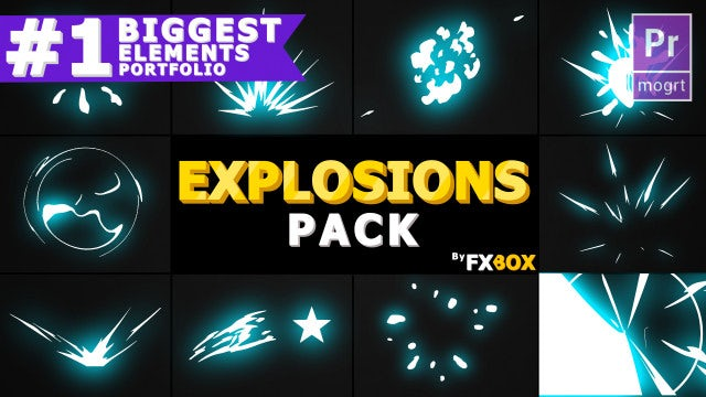Cartoon Explosion Elements: Motion Graphics Templates