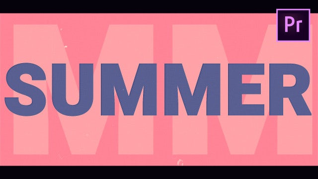 Summer Opener: Motion Graphics Templates