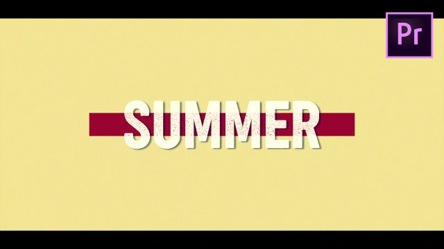 Summer Text Opener: Motion Graphics Templates