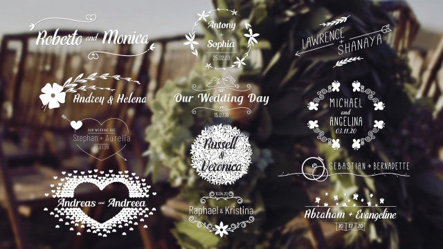 Wedding Titles Pack 4K: Motion Graphics Templates