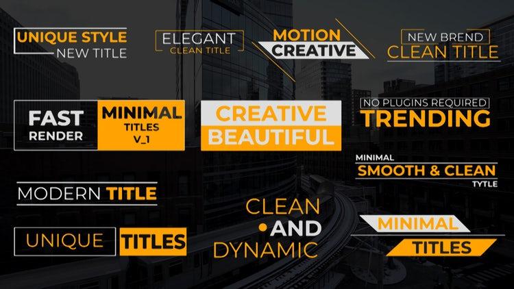 Clean Titles V1: Premiere Pro Templates