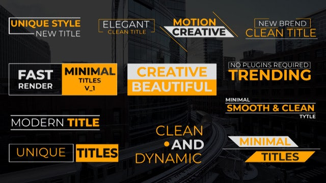 Clean Titles V1: Premiere Pro Templates
