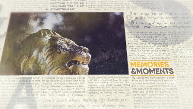 Newspaper History Slideshow: After Effects Templates