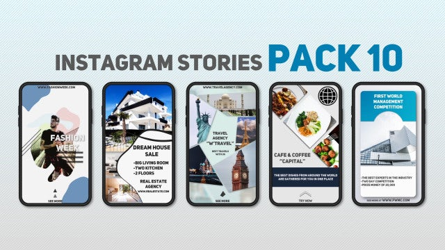 Instagram Stories Pack 10: After Effects Templates