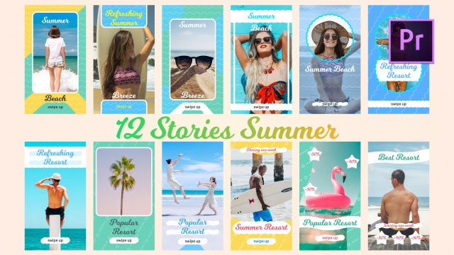 12 Stories Summer: Premiere Pro Templates