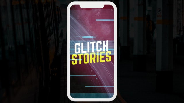 Glitch Stories: After Effects Templates