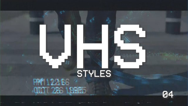VHS Styles Pack: Premiere Pro Templates