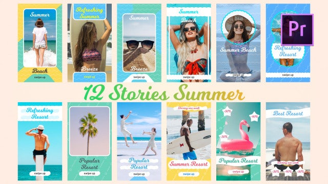 12 Stories Summer: Motion Graphics Templates