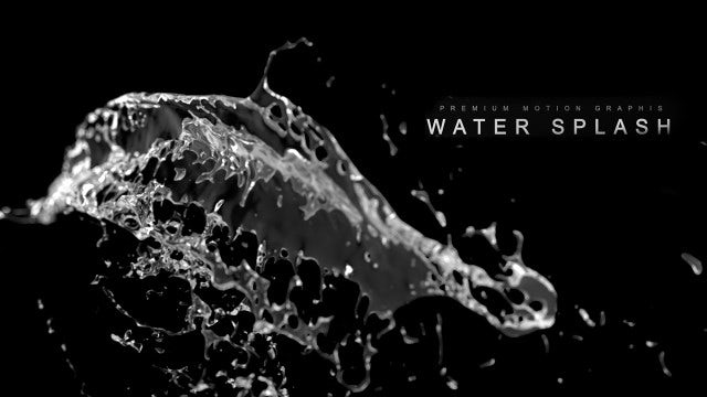 Water In Slow-Motion: Stock Motion Graphics