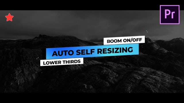 Lower Thirds Auto Self Resizing: Motion Graphics Templates