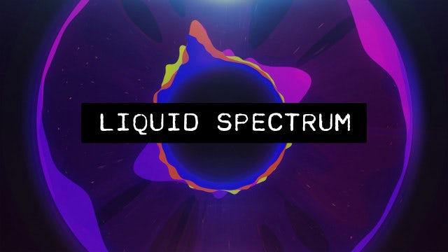 Liquid Audio Spectrum: After Effects Templates