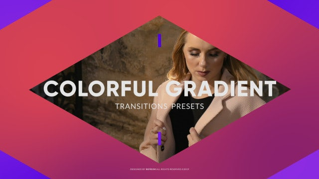 Colorful Gradient Transitions: Premiere Pro Presets